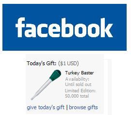 Turkey Baster Facebook Gift