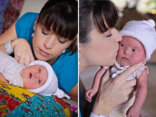 Kelle Hampton and her beautiful baby, Nella.